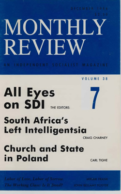 View Vol. 38, No. 7: December 1986