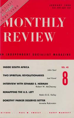 View Vol. 40, No. 8: January 1989