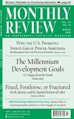The Millennium Development Goals: A Critique from the South